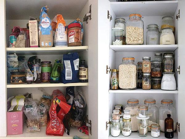 Jars pantry cupboard