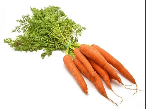 British bunched carrots with leaf