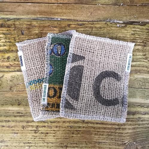 Upcycled Handmade TCK Cleaning Pad (coffee sack)