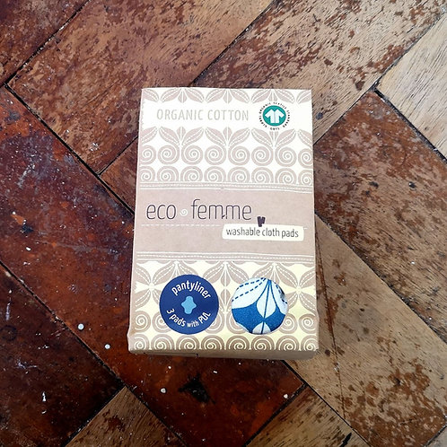 Eco Femme - Organic Cotton Pantyliner with PUL - 3 pack