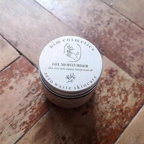 Nim Cosmetics - Aloe Vera and Organic Hemp Seed Oil Gel Moisturiser 60ml