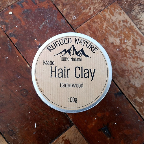 100% Natural Vegan Hair Clay - Cedarwood/Lemongrass