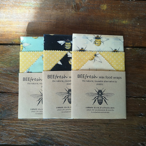 BeeFresh Wax Wraps - 3 Pack