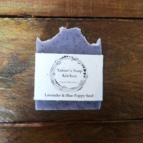 NSK Lavender and Blue Poppy Seed Soap