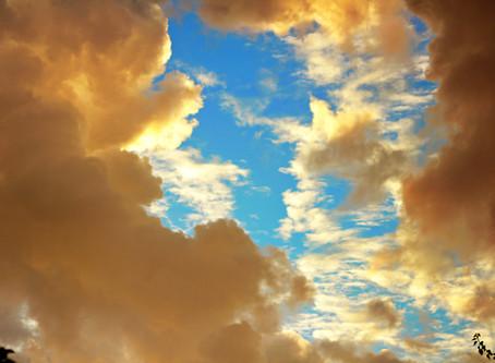 Красивое небо и странная муха