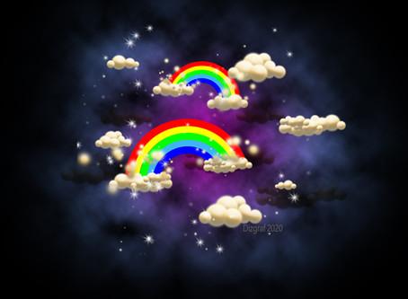 Радуга в ночном небе