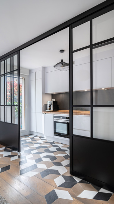 Une cuisine géométrique