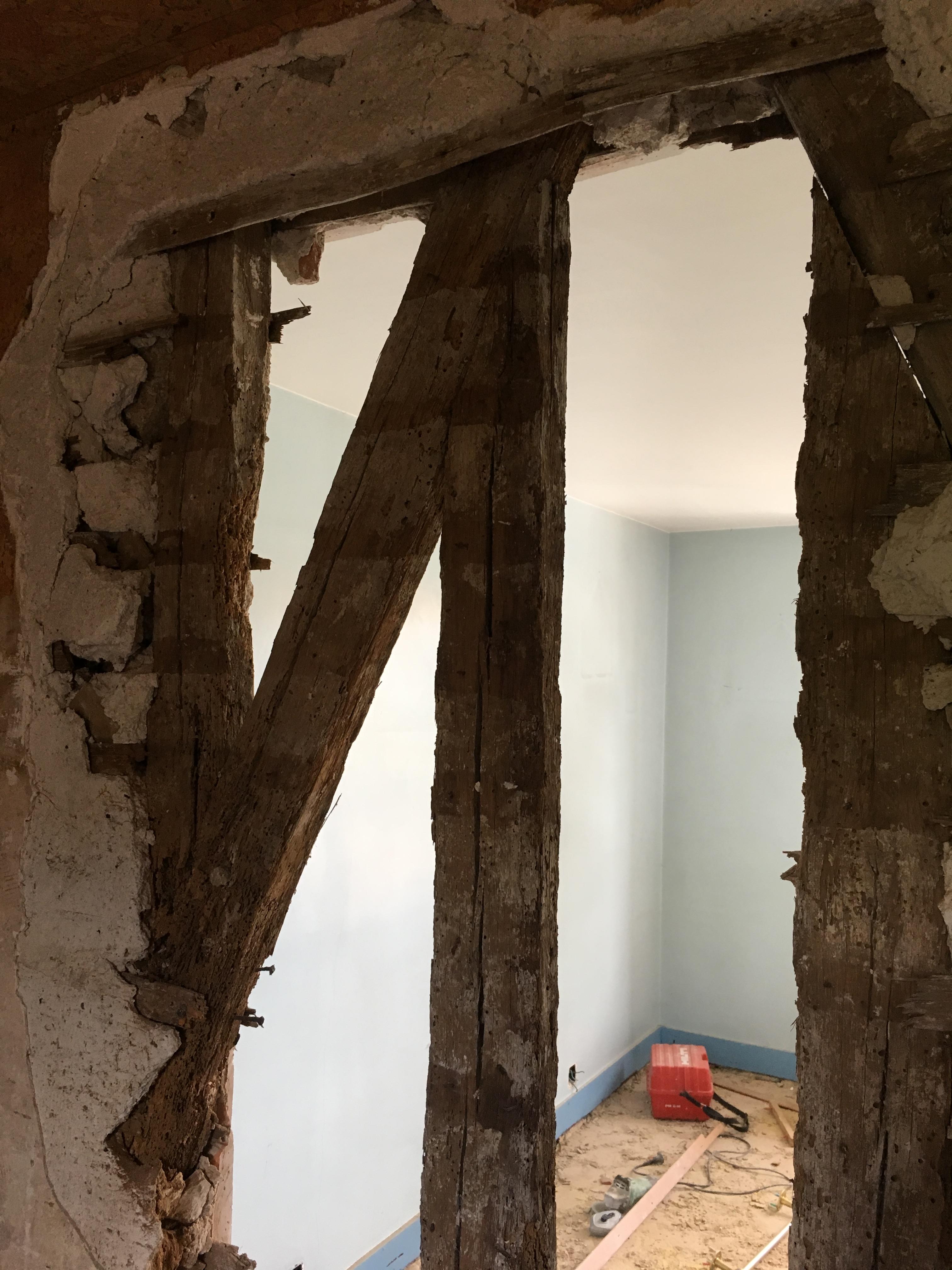 Démolition mur porteur dans chambre