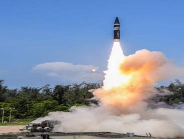 INDIA SUCCESSFULLY TEST-FIRES AGNI PRIMEMISSILE OFF ODISHA COAST
