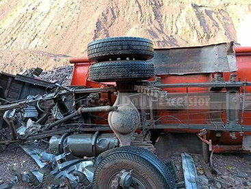 2 dead as oil tanker falls into gorge in Jammu and Kashmir's Reasi district