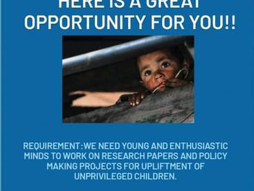 Internship Recruitment Alert!!! Join Stambh Organization's research Team Now!!! Click for the Link.