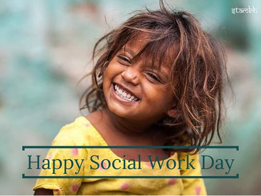 A very happy social work day to everyone who tries to bring a smile to someone's face.