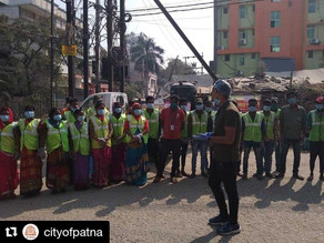 Community Cleanliness Drive in collaboration with Patna Municipal Corporation.