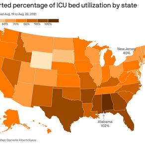 Covid-19 tại Mỹ: giường cấp cứu cho bệnh nhân sắp hết
