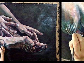 'Hypermobility' painting series, works in progress.
