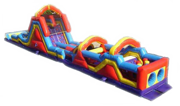 70' FULL Obstacle Course with Slide