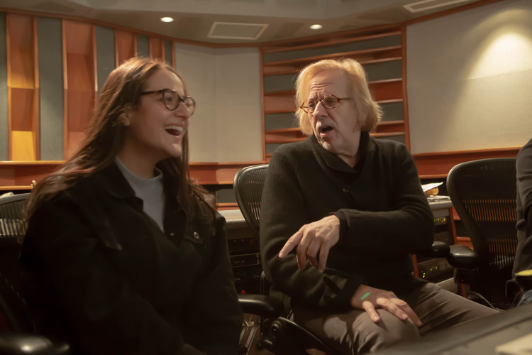 Mr Robert Cutarella and Melissa Salazar  at Eastside Sound Studio in New York