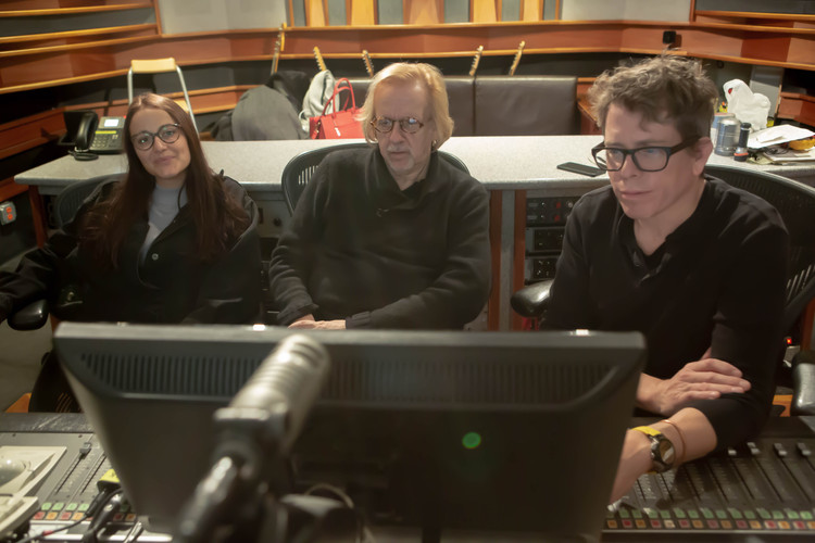 Mr Robert Cutarella, Fran Cathcart and Melissa Salazar at Eastside Sound Studio in New York city 2018