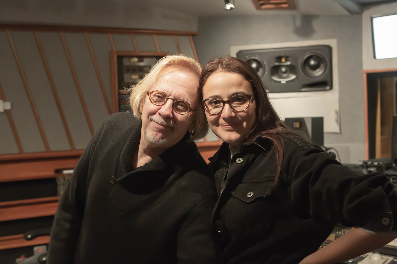 Mr Robert Cutarella and Melissa Salazar  at Eastside Sound Studio in New York city 2018