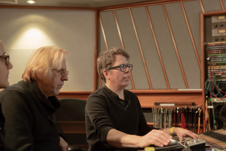 Mr Robert Cutarella, Fran Cathcart and me at Eastside Sound Studio in New York
