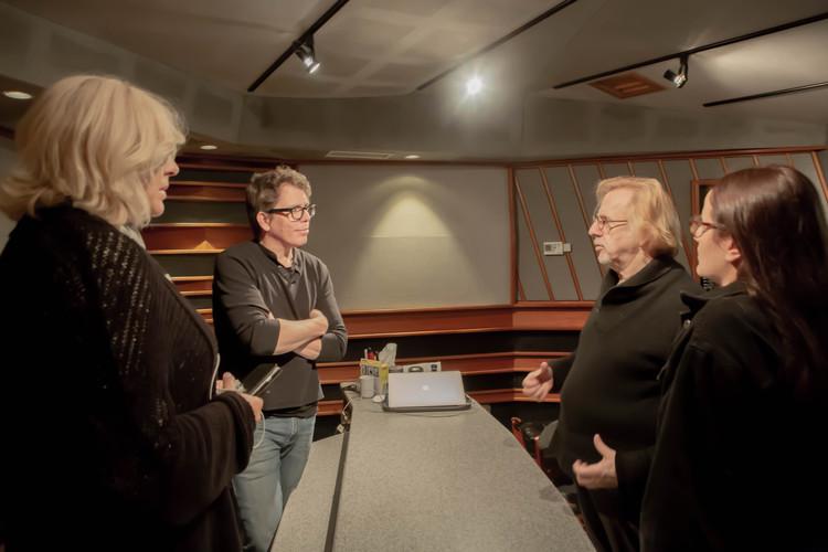 Mr Robert Cutarella, Fran Cathcart and Melissa Salazar  at Eastside Sound Studio in New York