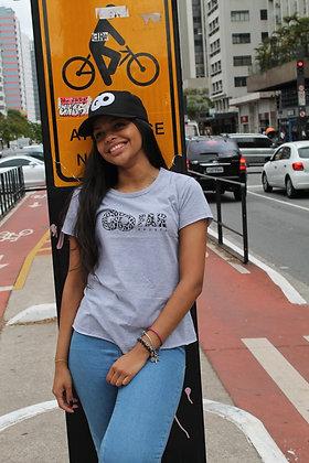 Camiseta cinza mescla fem