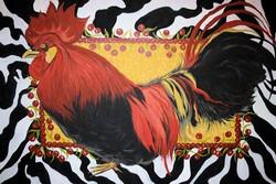 Zebra Rooster