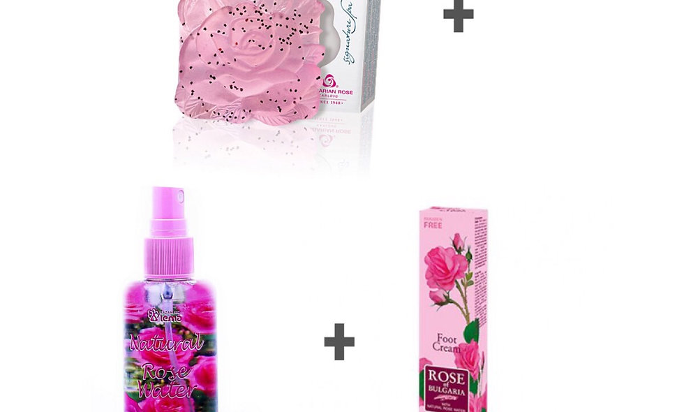 Caviar Rose Soap +Rose Water + Hand cream