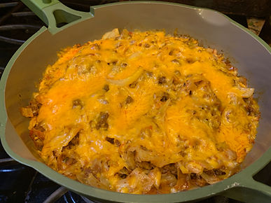 Keto One Pan Turkey Chorizo Cabbage Casserole