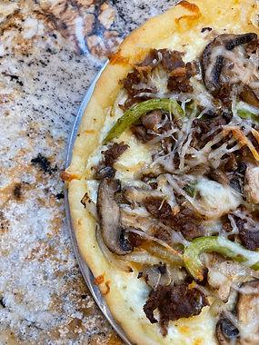 Philly Cheesesteak Pizza w/ Fathead Dough