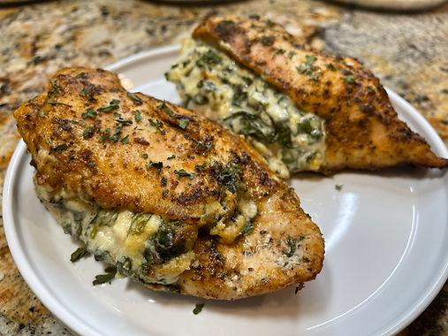 Keto Spinach Stuffed Chicken Breast