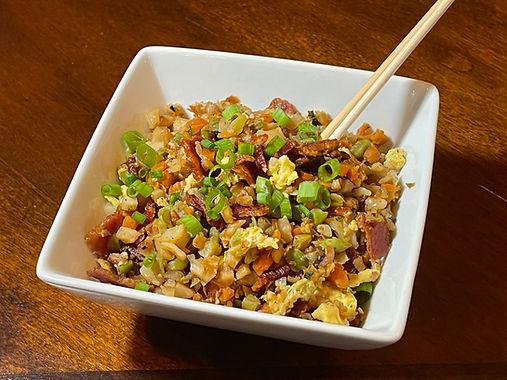 Bacon Fried Cauliflower Rice