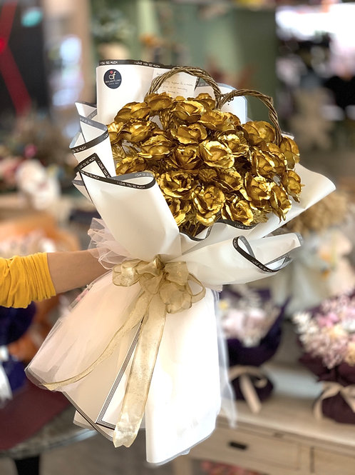 Gold Rose Sweetheart Bouquet