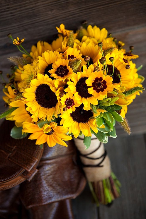 Classic Hand Tied Sunflower