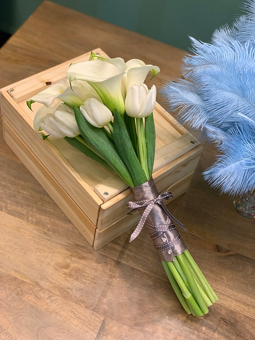 Carla Lily Tulip Hand Tied Bouquet