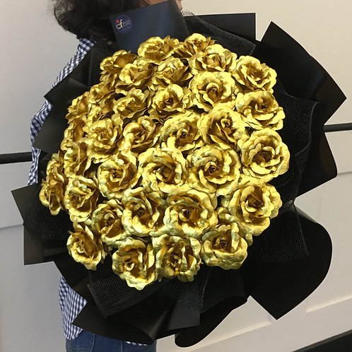 Premium Gold Rose Bouquet