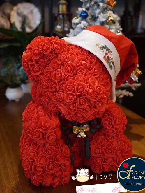 Christmas Rose Teddy Bear