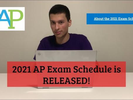 2021年AP考试时间表