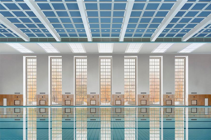 Berlin Pool Study, 2020, Acrylic on Canvas, 100 x 150 cm