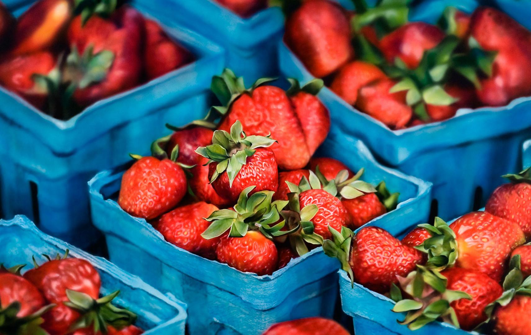 Boxed srawberries