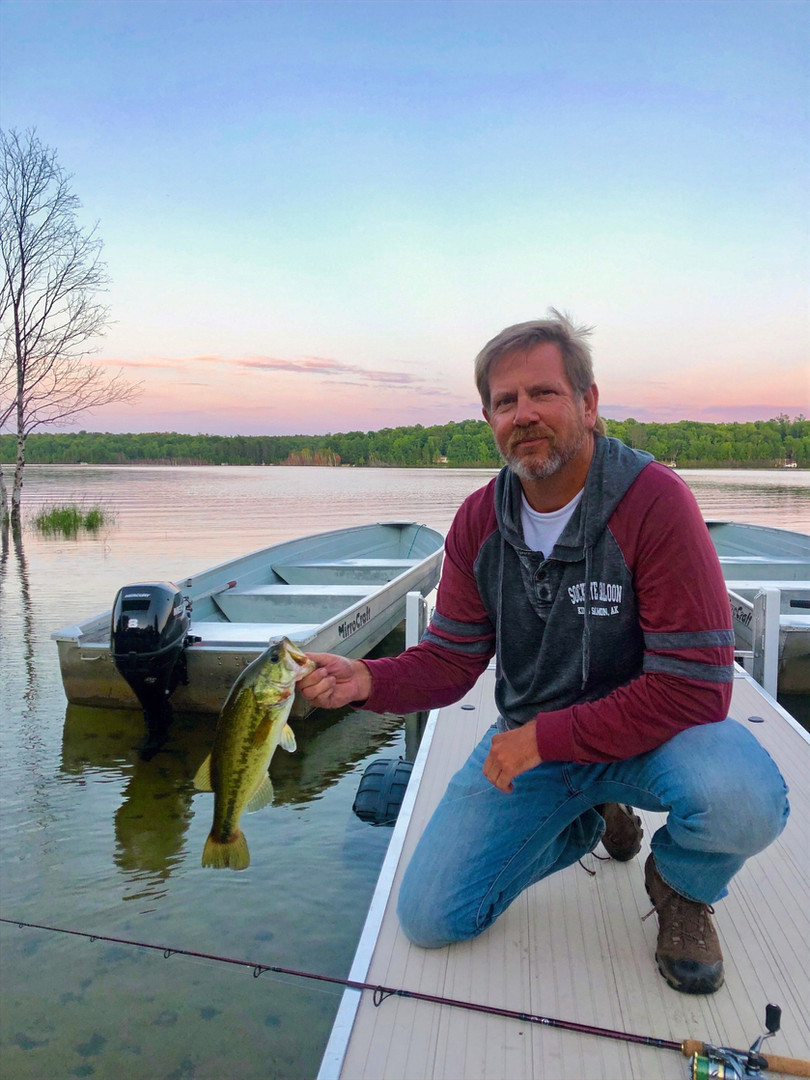 Bass Fishing off the dock