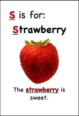 The strawberry is sweet.