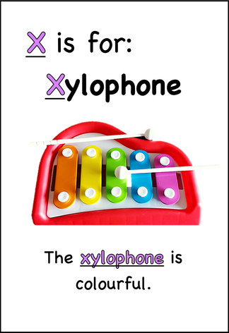 The xylophone is colourful.