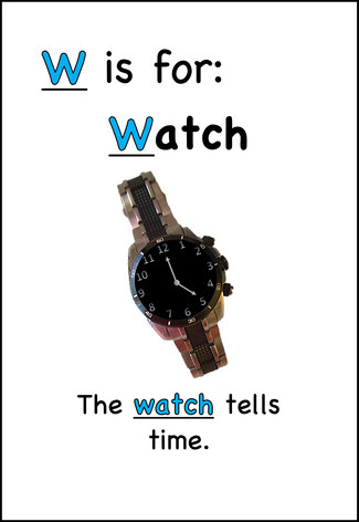 The watch tells time.