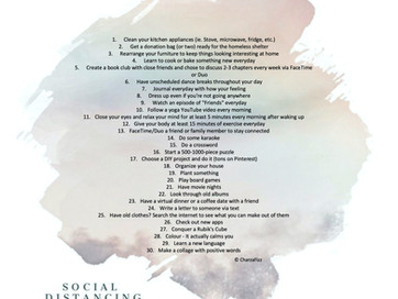 In the Wake of Covid19 - Social Distancing