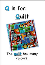 The quilt has many colours.
