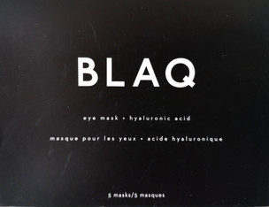 Product Review: BLAQ - Eye Mask + Hyaluronic Acid