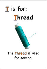 The thread is used for sewing.