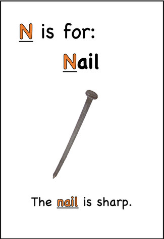 The nail is sharp.