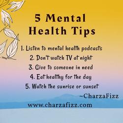 5 Mental Health Tips